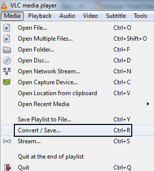 Convert Video Files With VLC