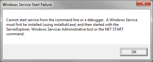 How to Debug a Windows Service in Visual Studio